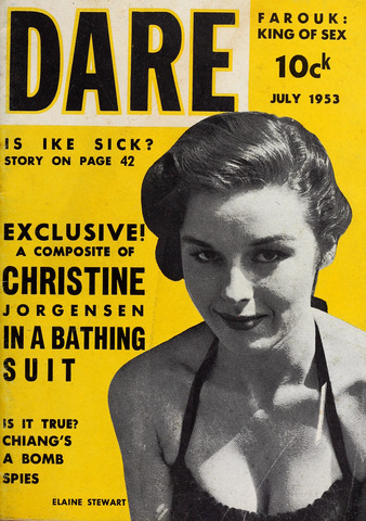 dare, men's magazines, christine jorgensen, trans history, digital transgender archive
