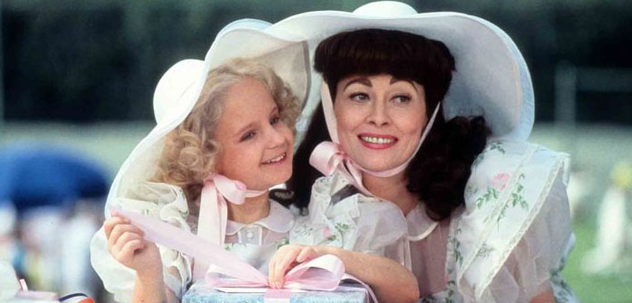 Mommie Dearest, Faye Dunaway, Mara Hobel, Christina Crawford, Joan Crawford
