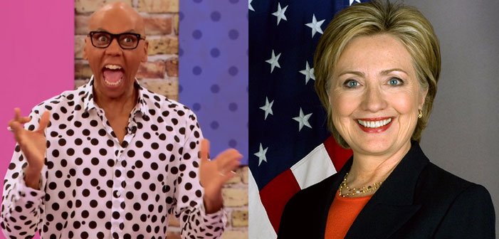 RuPaul, Hillary Clinton, drag queen, Democratic presidential nominee