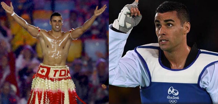 Pita Taufatofua, Rio 2016, Tongan flag bearer, Olympic, Summer Games, shirtless, muscular, Taekwondo