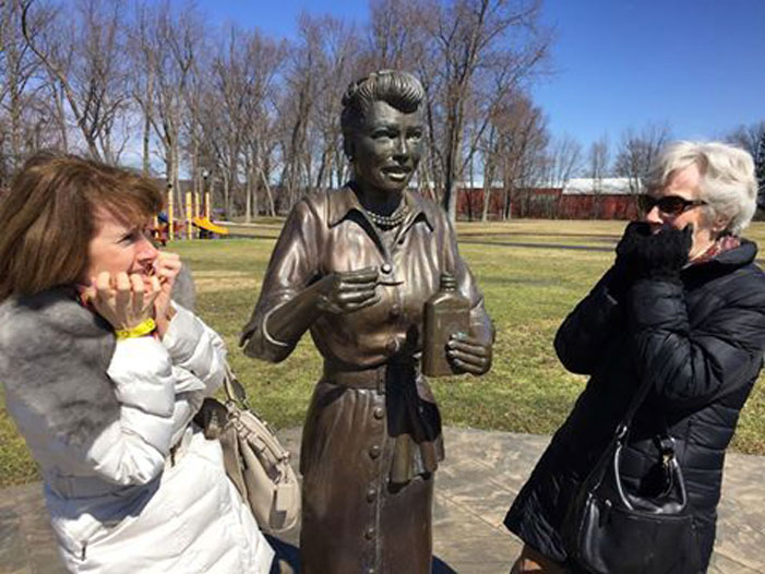 Lucille Ball, sculpture, scary, Lucy, Dave Poulin
