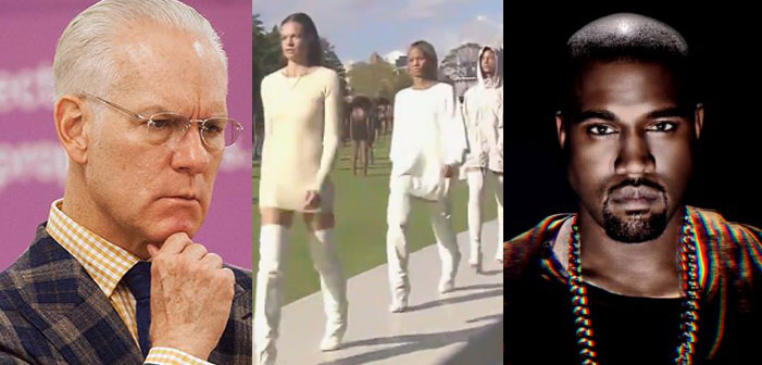 Tim Gunn, Kanye West, Yeezy, fashion line, clothes, Project Runway, rapper, musician