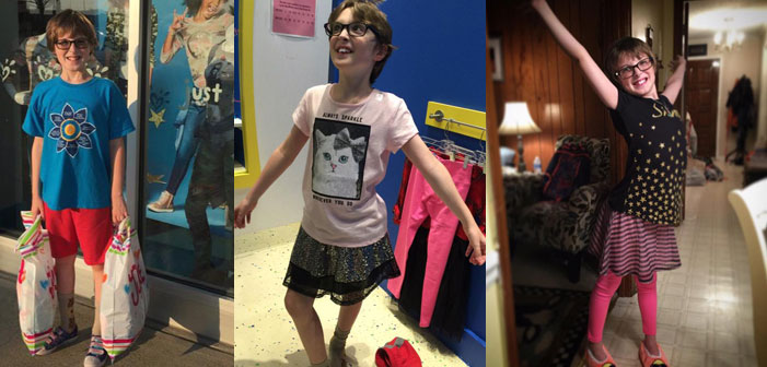 Martie Sirois, North Carolina, gender nonconforming, boy, son, Justice, store
