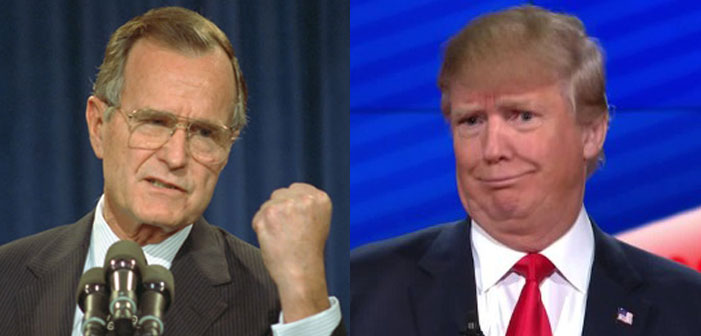George H Bush, Donald Trump, Republican, president, GOP, nominee, voting, election, fist, face, stupid