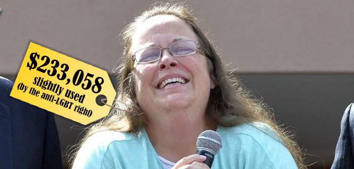Kim Davis cost Kim Davis, Kentucky, clerk, marriage equality, Christian, gay marriage, same-sex wedding