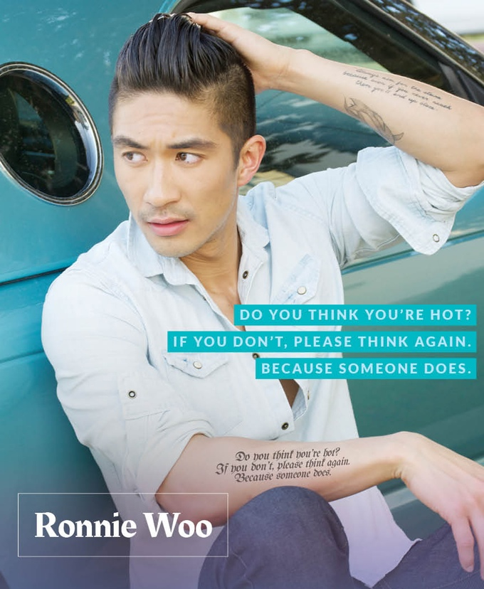 ronnie woo, logo, food to get you laid, haikus with hotties, rikki ronae
