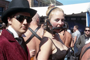 Folsom Street Fair, BDSM, kink, sexy, steampunk, woman, man, bridle