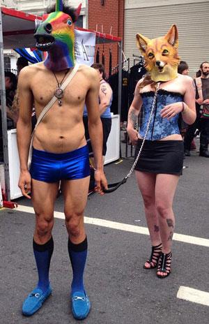 Folsom Street Fair, BDSM, kink, sexy, man, woman, unicorn, dom, sub, briefs, heterosexuality