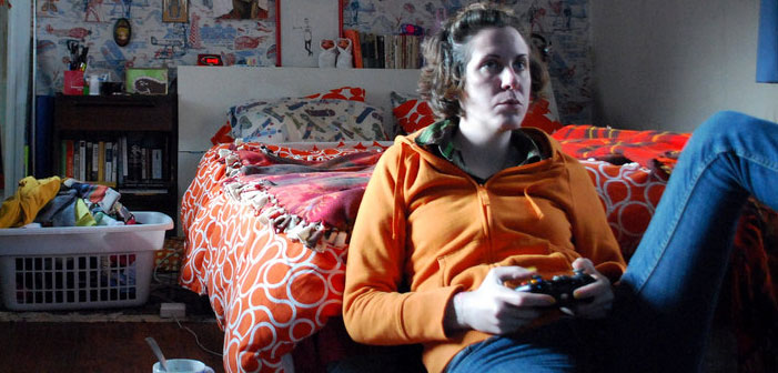 video games, sexism, woman, female, player, playing, room,