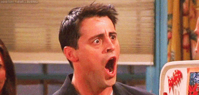 Shocked face, Friends, Joey Tribbiani, Matt LeBlanc