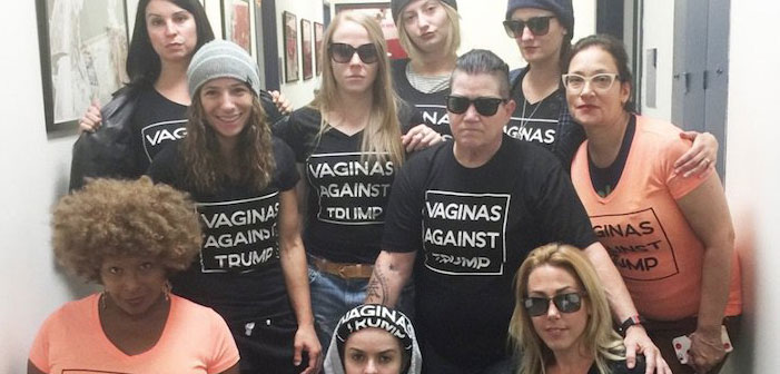Vaginas Against Trump, Orange is the New Black, OINTB, Donald Trump, t-shirts, cast, protest