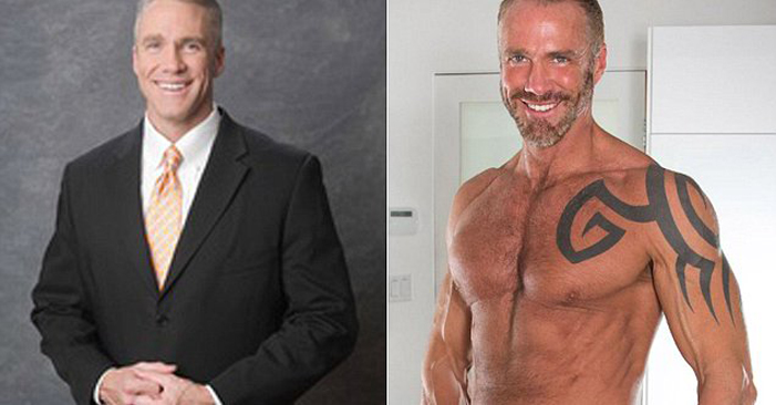Dallas Steele, gay porn, Jim Walker, shirtless, anchorman, news, Titan men, pornography, muscle, daddy