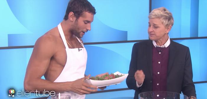 Franco Noriega Goes Naked (Again) on Ellen!