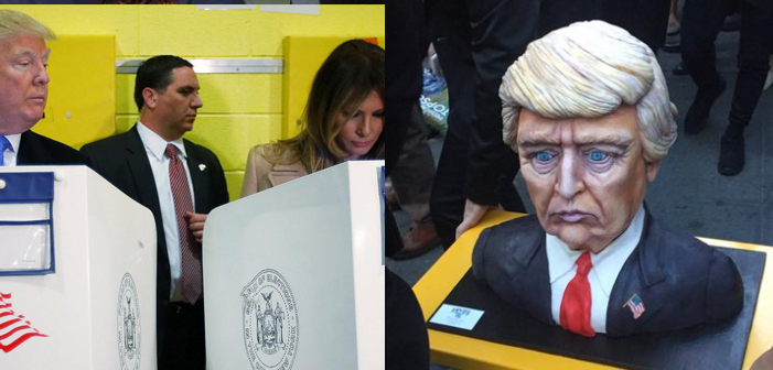 donald trump, cake, voting, melania trump, election day