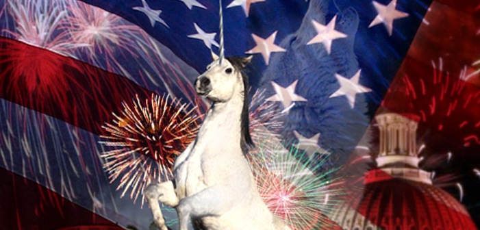 USA, Unicorn, red white and blue, patriotic