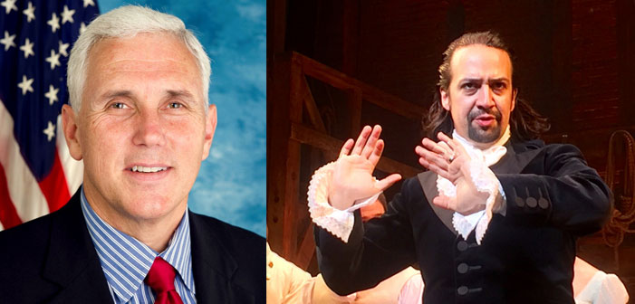 mike pence, hamilton, lin-manuel miranda, mike pence booed at hamilton