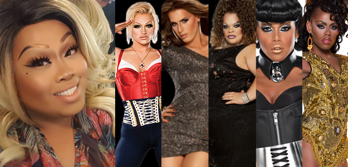 Jiggly Caliente, Sonique, Carmen Carrera, Stacy Layne Matthews, Kenya Michaels, Monica Beverly Hillz, transgender, drag queens, RuPaul's Drag Race