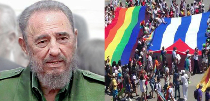 Fidel Castro, Cuba, LGBTQ rights, gay rights, LGBT, rainbow flag, parade