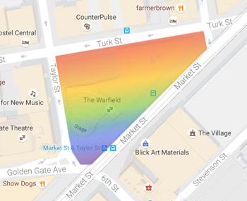 San Francisco, gay, historical, LGBTQ, LGBT, history, historical district, Market, Turk, Meat Rack, Compton's