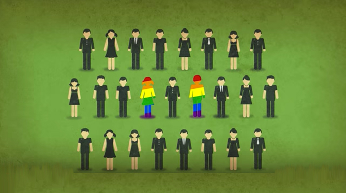 gay, rainbow, people, genetics, population, 2 in 25, LGBT, lesbian, men, women, family