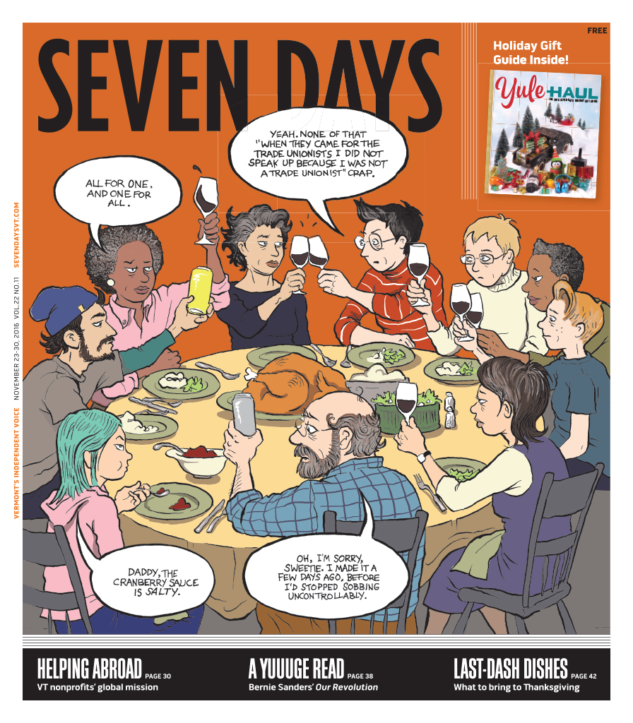 Seven Days, Alison Bechdel, Donald Trump, Thanksgiving, Dykes to Watch Out For