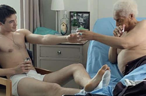 aging, older, gay, old man, Gerontophilia, Bruce LaBruce, film, romance, shirtless, naked, handsome