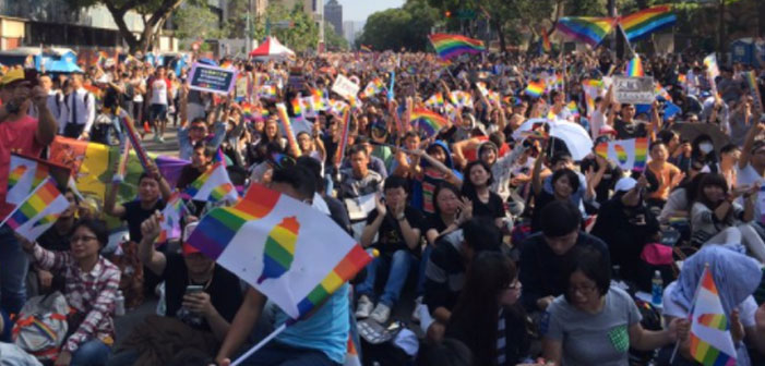 Taiwan, gay, marriage, same-sex, activists, rainbow flags, parliament, marriage equality