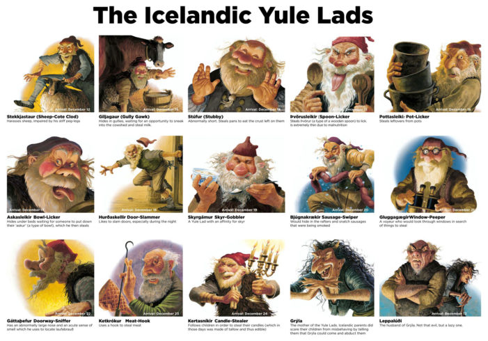 Yule Lads, Christmas, elves, gnomes