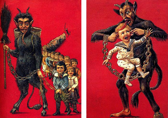 Krampus, Christmas, monster, kids, children, demon, goat, devil