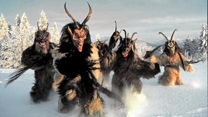 straggele, Christmas, monsters, demons, horns, hooves, winter
