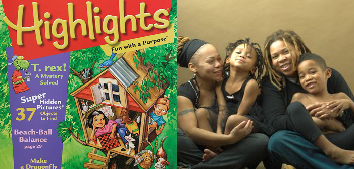 Highlights for Children, magazine, lesbian, same-sex parents, LGBT