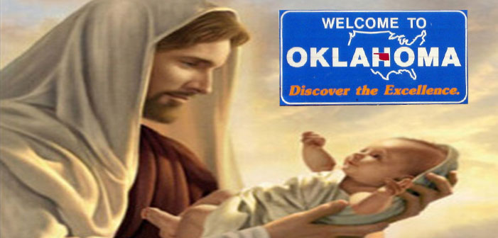 Oklahoma, Jesus, baby, art, welcome, sign