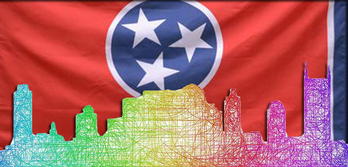 Tennessee, LGBT, rainbow, Nashville, skyline, flag