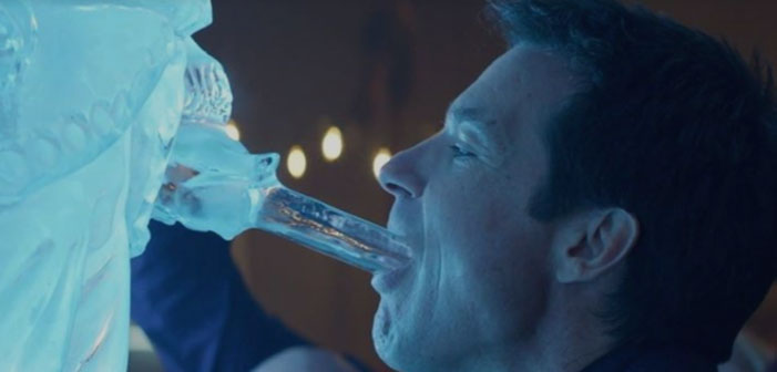 Jason Bateman, Christmas Holiday Party, egg nog, luge, blowjob, dick, sucking, cock, penis, ice