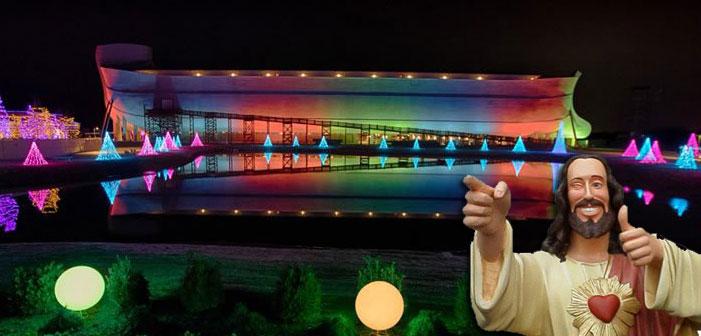 Ark exploration, Ken Ham, rainbow, Noah's Ark, Kentucky, LGBTQ