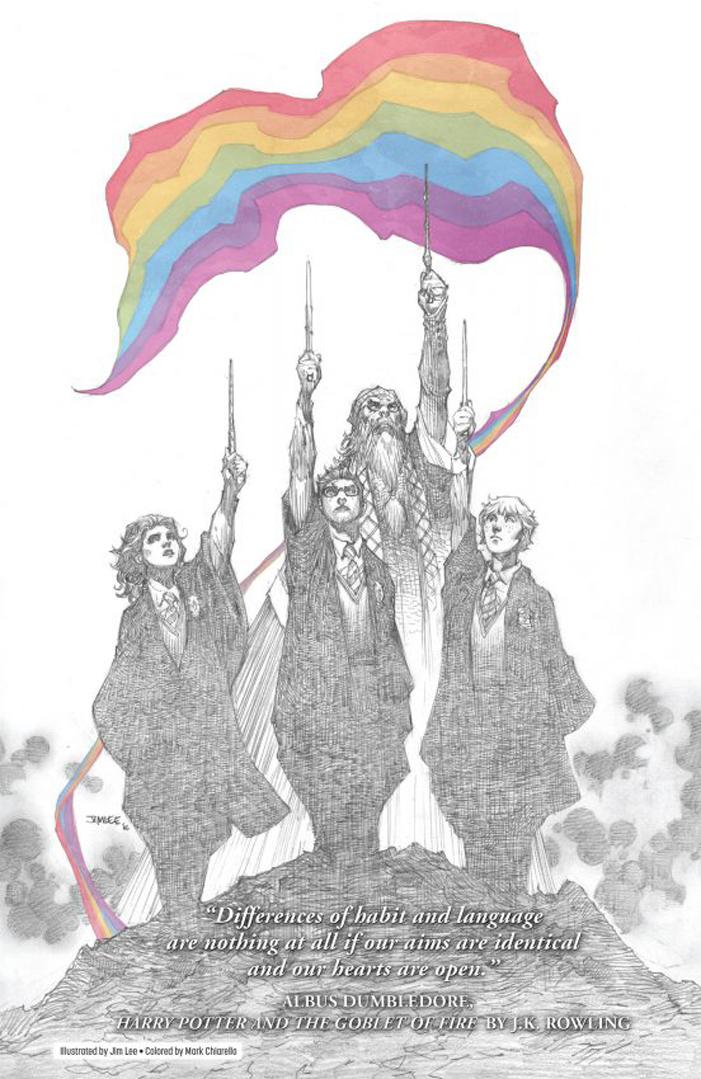 J.K. Rowling, Harry Potter, Love is Love, Orlando, Pulse, Jim Lee, Harry Potter, Albus Dumbledore, Ron Weasley, Hermione Granger