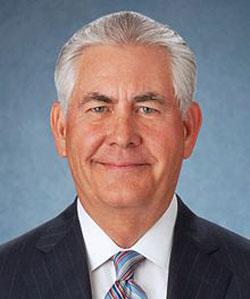 Rex Tillerson, Exxon CEO, Secretary of State