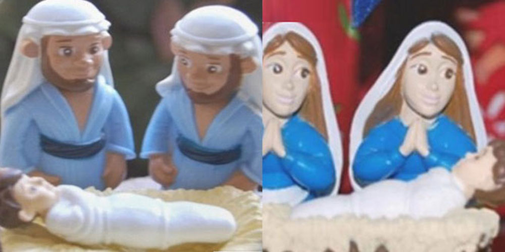 Christians Freak Out Over Ornaments Showing Jesus With Same-Sex Parents