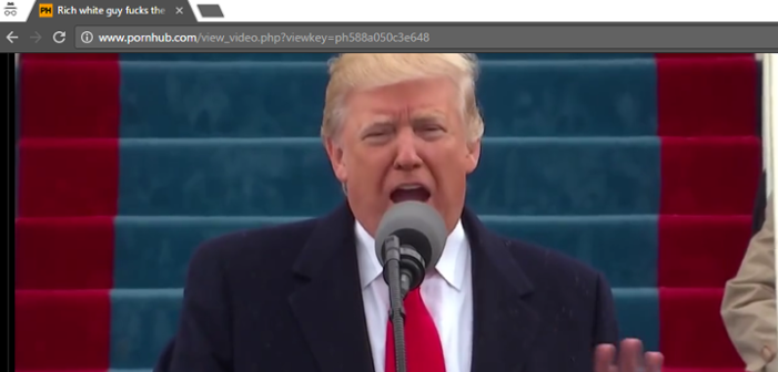 Donald Trump's Inauguration Video Was Uploaded to Pornhub with the Title 'Rich White Guy Fucks the Entire Country All at Once'