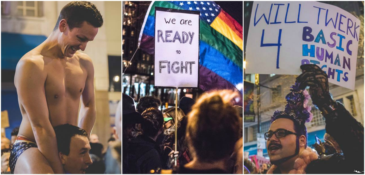 15 Fabulous Photos from the Queer Dance Party Protesting Donald Trump (Video)