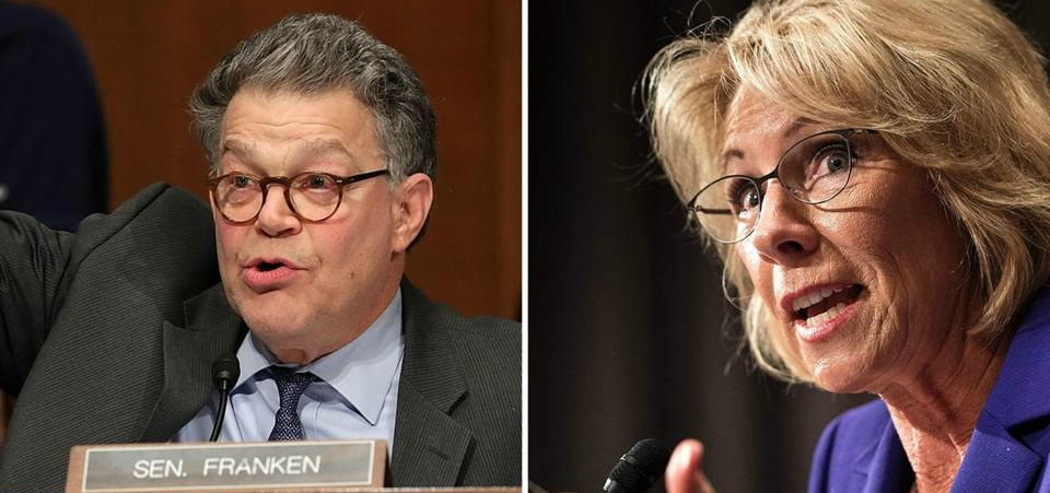 Al Franken Grills Betsy DeVos on Support for Gay Conversion Therapy (Video)