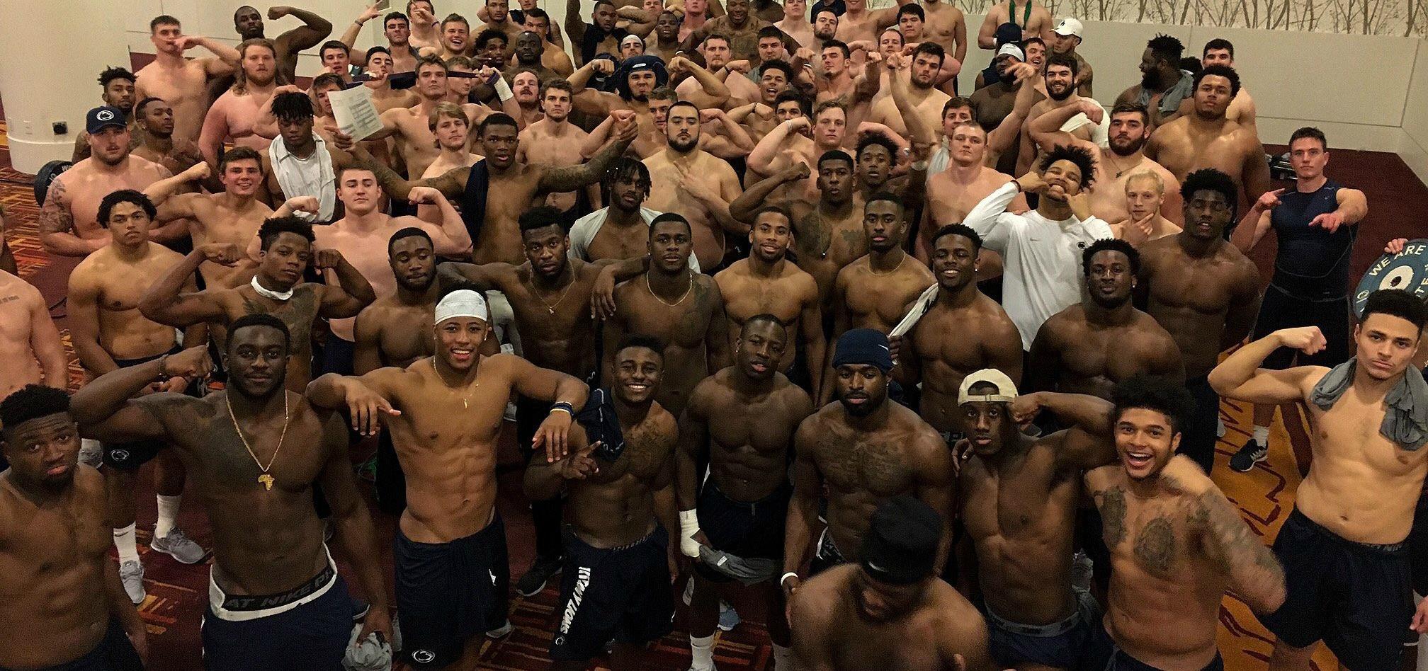 Shirtless Penn State