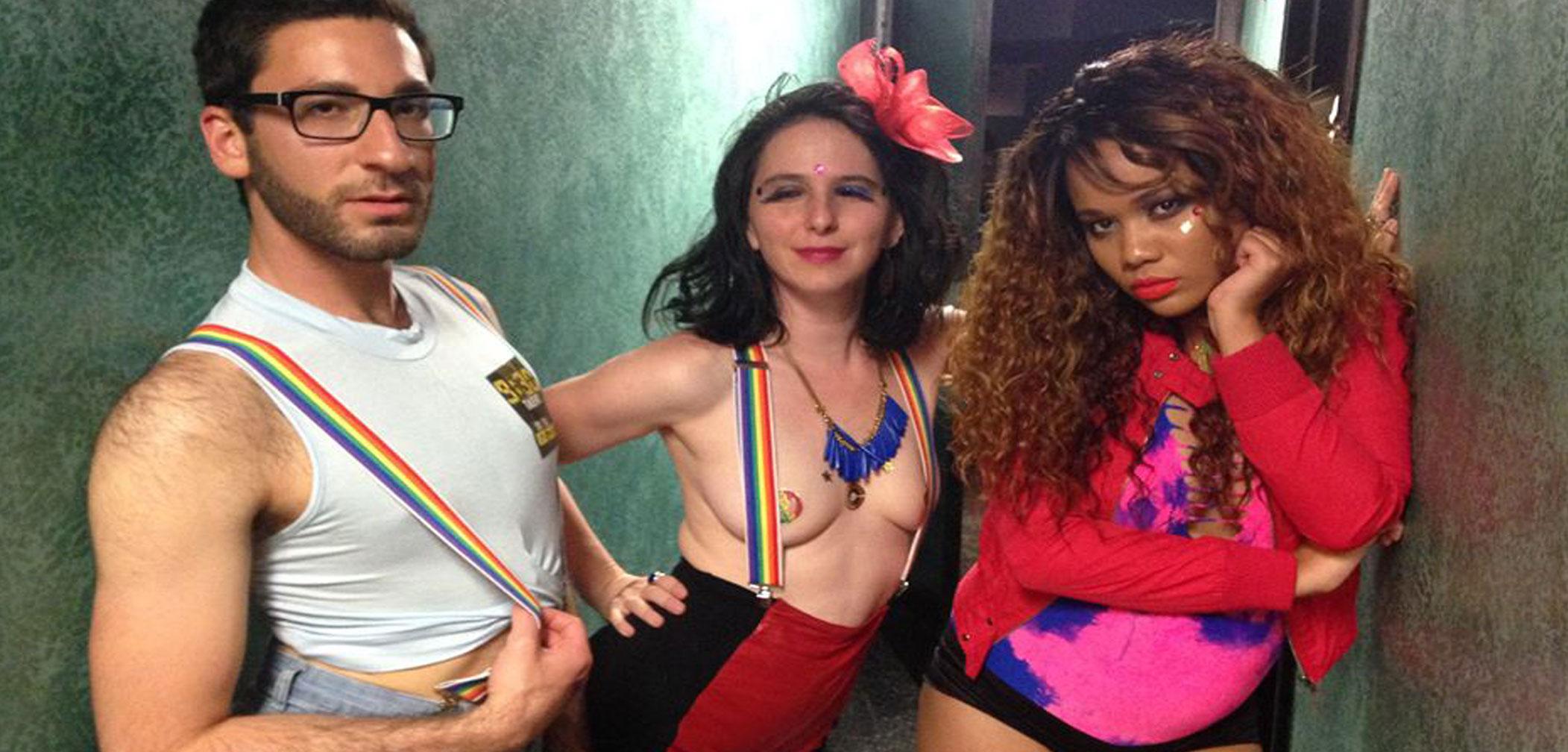 WERK for Peace, LGBTQ, Washington D.C., gay, queer, dancer, man, women, sexy, pasties, rainbow