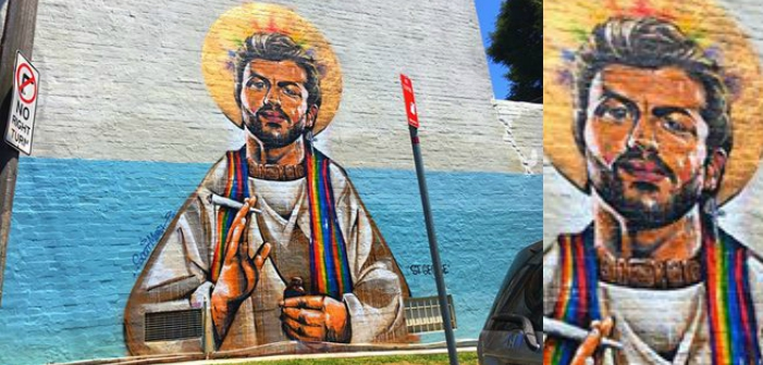 George Michael Immortalized with Saintly Mural (Photos)