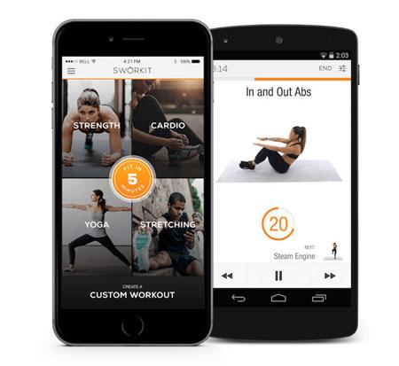 great fitness apps, Sworkit, app, screenshot, fitness, health, workout