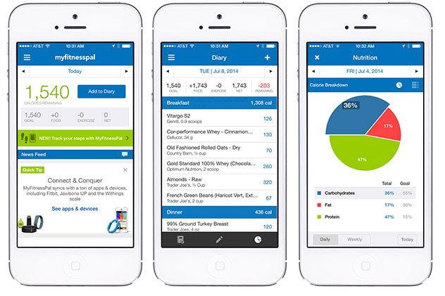 great fitness apps, My Fitness Pal, Calorie Counter, app, screenshot, fitness, health, workout