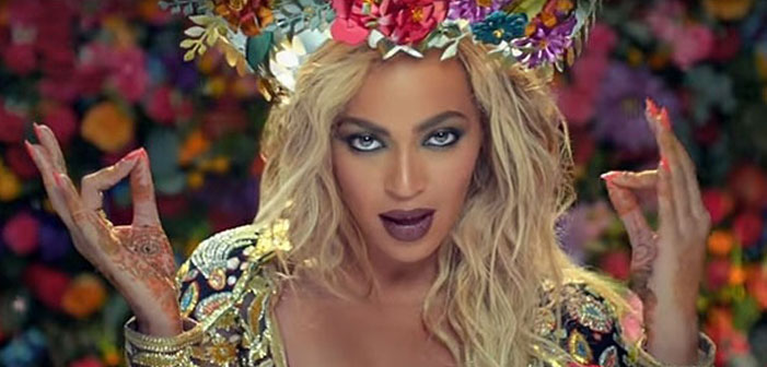 Beyonce, Bollywood, video, flower crow, makeup