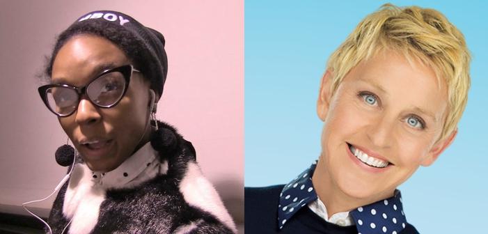 Janelle Monáe and Ellen DeGeneres