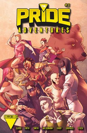 The Pride, Joe Glass, The Pride Adventures, LGBTQ, comic books, comics