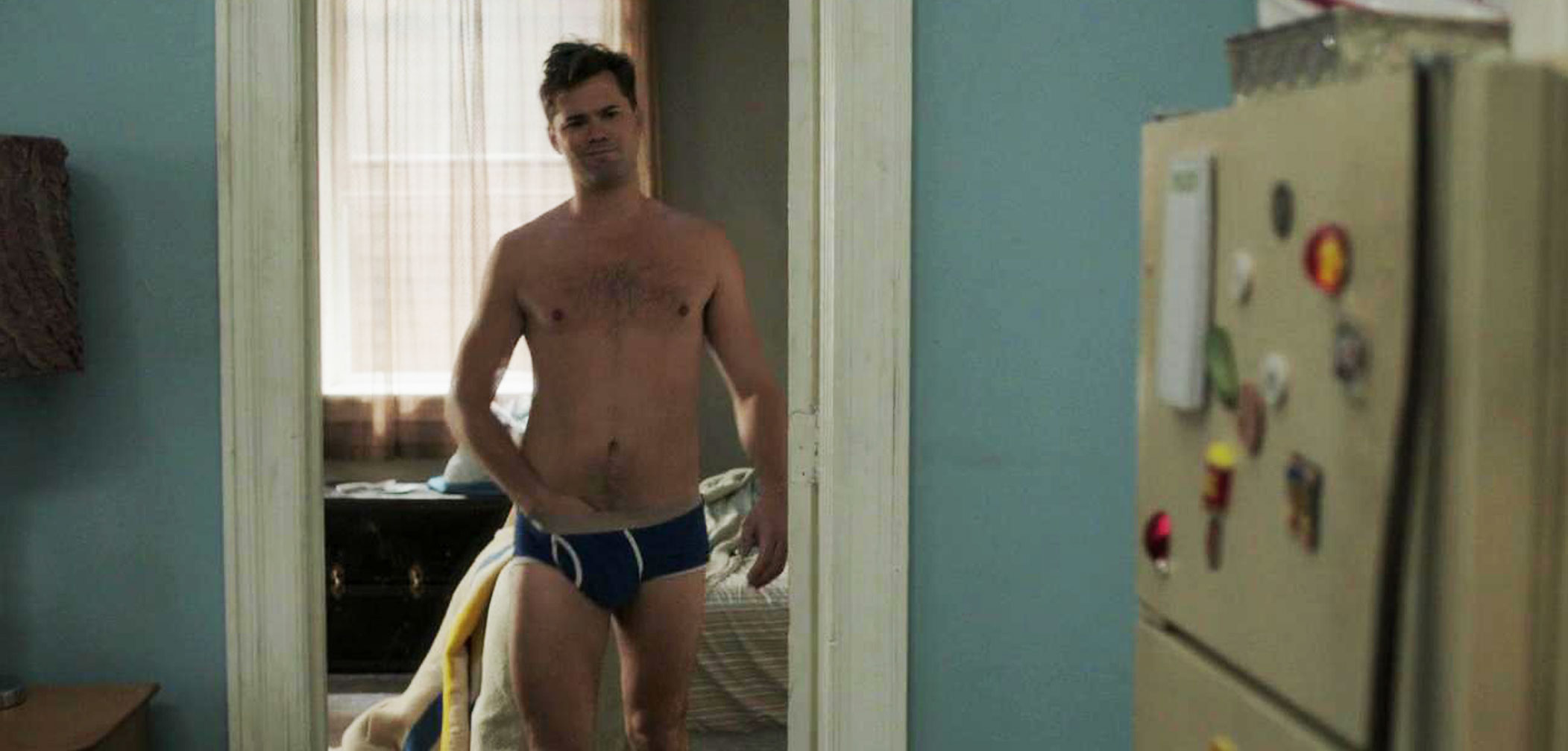 Andrew Rannells cock sock, HBO, Girls, briefs, sexy, shirtless